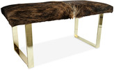 Le-Coterie Le Coterie BeBe Skinny Bench - Dark Brindle/Brass frame, brass; upholstery, dark brindle