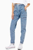 Topshop Mid Blue Worker Mom Jeans