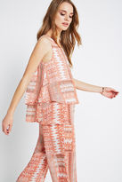 BCBGeneration Tiered Pleated Patchwork Print Tank - Pink
