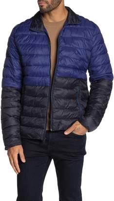 Michael Kors Pavilion Two-Tone Puffer Jacket
