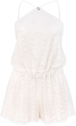 Blonde Gone Rogue Desert Dreams Sustainable Playsuit - White Lace