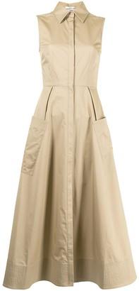 Co sleeveless A-line shirt dress