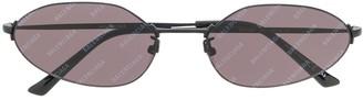 Balenciaga Eyewear Invisible oval sunglasses