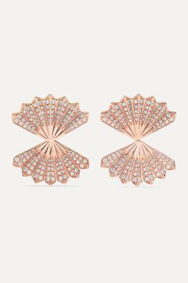 Anita Ko Double Fan 18-karat Rose Gold Diamond Earrings