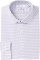 Calvin Klein Striped Check Slim Fit Dress Shirt