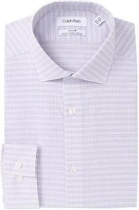 Calvin Klein Striped Check Slim Fit Dress Shirt