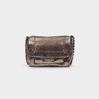 Jerome Dreyfuss Lulu Small Shoulder Bag In Silver Goat Leather