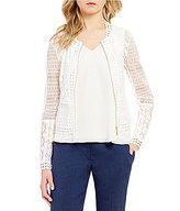 Antonio Melani Luella Zip Front Lace Jacket