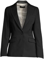 Piazza Sempione Leather Detail Stretch-Wool Blazer