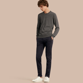 Burberry Slim Fit Stretch-cotton Twill Chinos