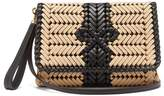 Anya Hindmarch The Neeson Woven Leather-trimmed Cross-body Bag - Womens - Beige Multi