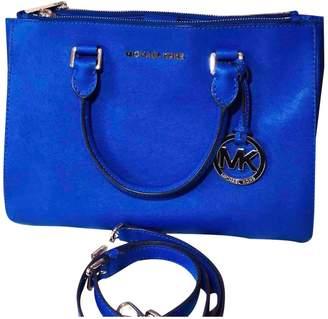 Michael Kors Sutton Blue Leather Handbags