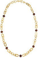 Stephanie Kantis Connection Link & Wooden Bead Necklace