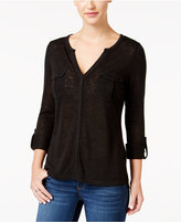 Calvin Klein Jeans Pocketed Roll-Cuff Top