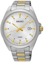 Seiko Men's Two-Tone Quartz Watch, 42mm
