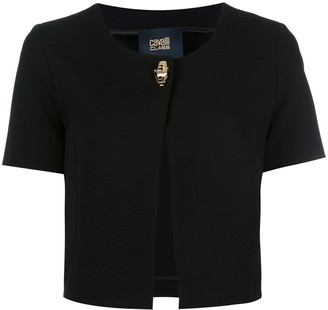Class Roberto Cavalli One Button Cropped Jacket
