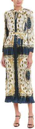 Beulah Pleated Midi Dress