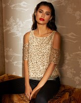 Lipsy Sequin High Neck Top