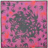 McQ Pink Swallow Swarm Scarf