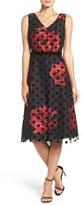 Donna Ricco Layered Midi Dress