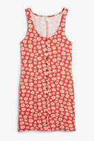 Monki Ribbed sleeveless dress
