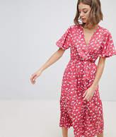Vero Moda Wrap Over Floral Dress