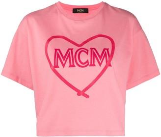 MCM cropped logo T-shirt
