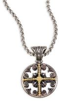 Konstantino Penelope 18K Yellow Gold & Sterling Silver Etched Filigree Charm Pendant