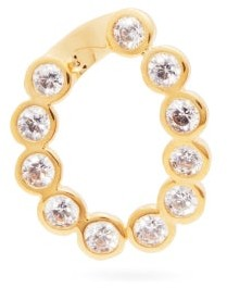 Hillier Bartley Crystal-embellished Gold-plated Charm - White
