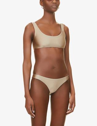 JADE SWIM Rounded Edges scoop-neck bikini top