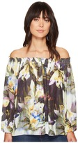 Nicole Miller Rocky Daffodil Printed Top Women's Clothing