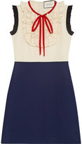 Gucci Silk wool contrast dress - women - Silk/Wool - 38