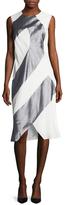 Narciso Rodriguez Colorblock Front Split Sheath Dress
