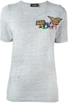 DSQUARED2 flag detail T-shirt - women - Cotton - S