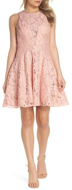 Xscape Evenings Lace Fit & Flare Dress