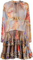 Moschino Pre Owned 1990s angels print sheer dress
