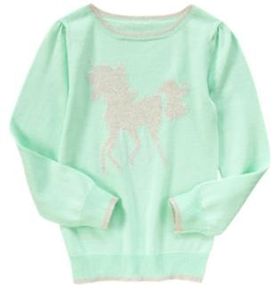 Crazy 8 Sparkle Unicorn Sweater
