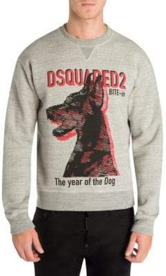 DSQUARED2 Year Of The Dog Cotton Sweatshirt