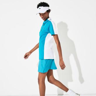 Lacoste Women's SPORT Two-Tone Stretch Cotton Pique Golf Polo Shirt
