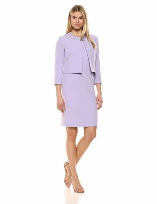 Le Suit LeSuit Women's Open Jacket Crepe Dress Suit