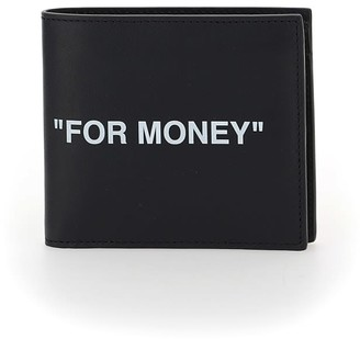 Off-White Calf Skin Quote Bifold Wallet
