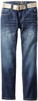 U.S. Polo Assn. Boys 8-20 Belted Slim Straight Jean