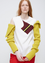 Calvin Klein Yellow Removable Knit Sleeves