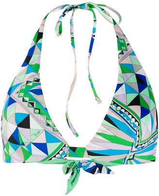 Emilio Pucci Geometric Pattern Bikini Top