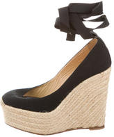 Christian Louboutin Espadrille Lace-Up Wedges