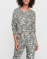 Express Cozy Marled Animal Print Sweatshirt