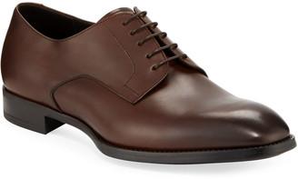 Giorgio Armani Men's Calf Leather Derby Shoes