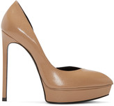Saint Laurent Tan Leather D'Orsay Janis Pumps
