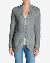 Eddie Bauer Women's Cable Fable Cardigan Sweater