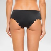 Vanilla Beach Women's Scalloped Hipster Bikini Bottom Onyx